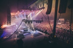 Mumford And Sons performing at Bonnaroo Music Festival in Manchester, TN on June 13, 2015. (Photo: Joe Gall)