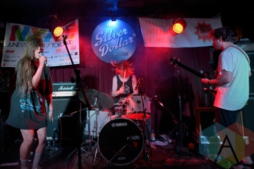 Nancy Pants performing at The Silver Dollar in Toronto, ON on June 18, 2015 during NXNE 2015. (Photo: Steve Danyleyko/Aesthetic Magazine)