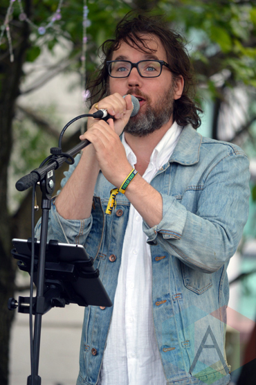 Kevin Drew & Andy Kim performing at Field Trip 2015 in Toronto, ON on June 7, 2015. (Photo: Justin Roth/Aesthetic Magazine)