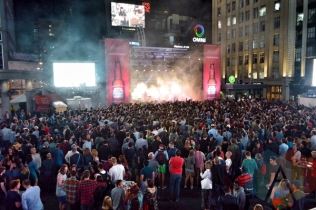 Hollerado performing at Yonge-Dundas Square in Toronto, ON on June 19, 2015 during NXNE 2015. (Photo: Justin Roth/Aesthetic Magazine)