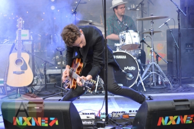 Born Ruffians performing at Yonge-Dundas Square in Toronto, ON on June 19, 2015 during NXNE 2015. (Photo: Justin Roth/Aesthetic Magazine)