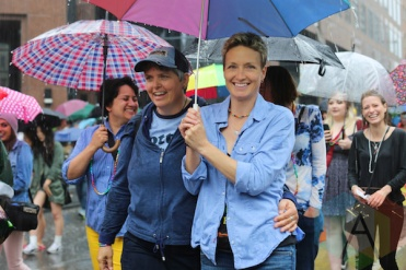 Dyke March at Pride Toronto 2015 on June 27, 2015. (Photo: Lindsay Duncan/Aesthetic Magazine)