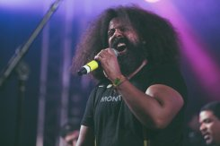 Reggie Watts performing as part of the Superjam at Bonnaroo Music Festival in Manchester, TN on June 13, 2015. (Photo: Erik Voake)
