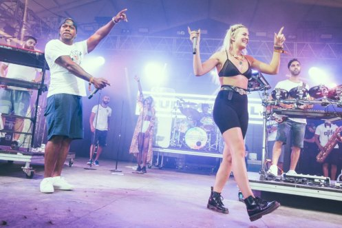 Rudimental performing at the Bonnaroo Music Festival in Manchester, TN on June 14, 2015. (Photo: Erik Voake)