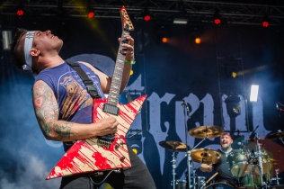 Atreyu performing at Amnesia Rockfest in Montebello, QC on June 19, 2015. (Photo: Scott Penner/Aesthetic Magazine)