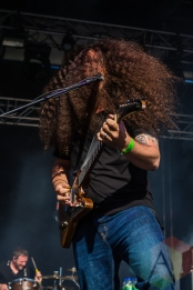 Coheed And Cambria performing at Amnesia Rockfest in Montebello, QC on June 19, 2015. (Photo: Scott Penner/Aesthetic Magazine)