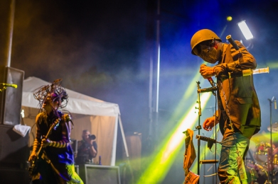 Skinny Puppy performing at Amnesia Rockfest in Montebello, QC on June 19, 2015. (Photo: Scott Penner/Aesthetic Magazine)