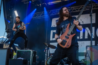 The Dillinger Escape Plan performing at Amnesia Rockfest in Montebello, QC on June 19, 2015. (Photo: Scott Penner/Aesthetic Magazine)