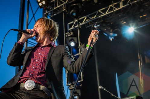 Refused performing at Amnesia Rockfest in Montebello, QC on June 20, 2015. (Photo: Scott Penner/Aesthetic Magazine)