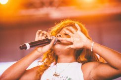 SZA performing at the Bonnaroo Music Festival in Manchester, TN on June 13, 2015. (Photo: Pooneh Ghana)