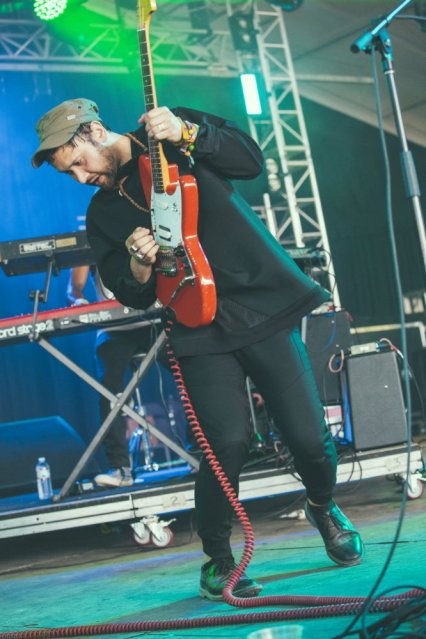 Unknown Mortal Orchestra performing at the Bonnaroo Music Festival in Manchester, TN on June 11, 2015. (Photo: Erik Voake)
