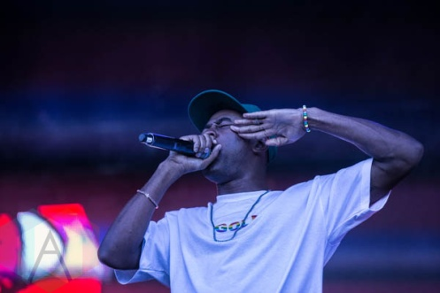 Tyler The Creator performing at FVDED in the Park in Holland Park in Surrey, BC. (Photo: Amy Ray/Aesthetic Magazine)
