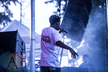 Vic Mensa performing at FVDED in the Park in Holland Park in Surrey, BC. (Photo: Amy Ray/Aesthetic Magazine)