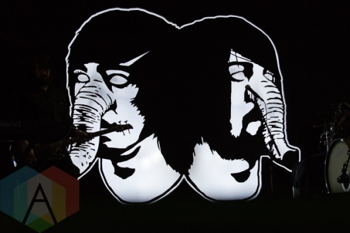 Death From Above 1979 performing at Nathan Philips Square in Toronto, ON on July 12th, 2015 as part of Panamania 2015. (Photo: Fernando Paiz/Aesthetic Magazine)
