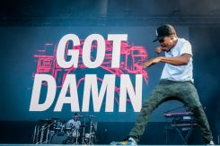 Chance The Rapper performing at Ottawa Bluesfest on July 10, 2015.