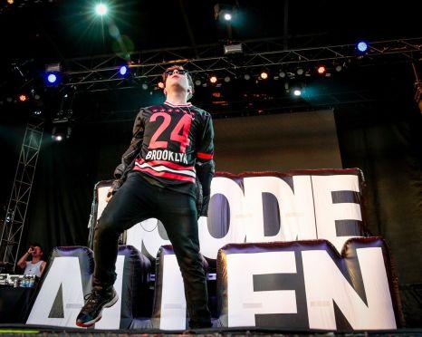 Hoodie Allen performing at Ottawa Bluesfest on July 9, 2015.