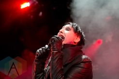 Marilyn Manson performing at the Concord Pavilion in Concord, CA on July 7, 2015. (Photo: Raymond Ahner/Aesthetic Magazine)