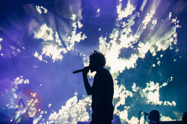 J Cole Performing At The Pemberton Music Festival On July 16 2015