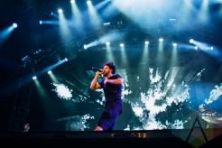 J Cole performing at the Pemberton Music Festival on July 16, 2015. (Photo: Steven Shepherd/Aesthetic Magazine)