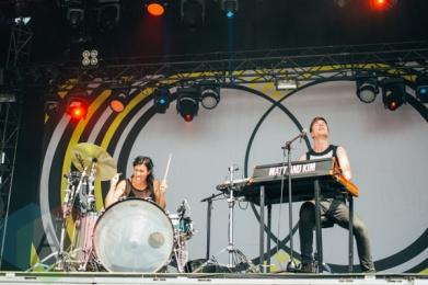 Matt and Kim performing at the Pemberton Music Festival on July 18, 2015. (Photo: Steven Shepherd/Aesthetic Magazine)