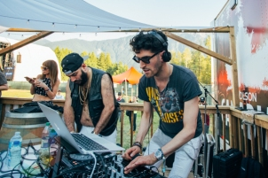 Chromeo performing at the Pemberton Music Festival on July 18, 2015. (Photo: Steven Shepherd/Aesthetic Magazine)