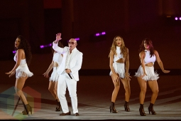 Pitbull performing at the Toronto 2015 Pan Am Games closing cceremony in Toronto, ON on July 26, 2015. (Photo: Julian Avram/Aesthetic Magazine)