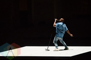 Kanye West performing at the Toronto 2015 Pan Am Games closing cceremony in Toronto, ON on July 26, 2015. (Photo: Julian Avram/Aesthetic Magazine)