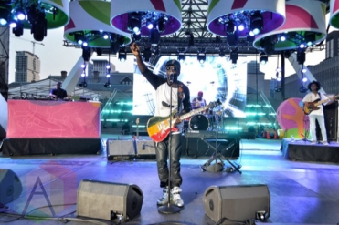 Wyclef Jean performing at Nathan Philips Square in Toronto, ON on July 11th, 2015 as part of Panamania 2015. (Photo: Justin Roth/Aesthetic Magazine)