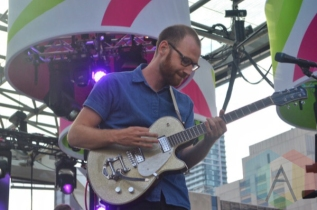 Reuben And The Dark performing at Nathan Philips Square in Toronto, ON on July 14th, 2015 as part of Panamania 2015. (Photo: Justin Roth/Aesthetic Magazine)
