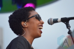 Cold Specks performing at Nathan Philips Square in Toronto, ON on July 14th, 2015 as part of Panamania 2015. (Photo: Justin Roth/Aesthetic Magazine)