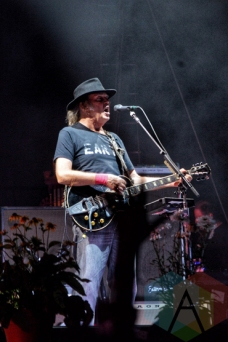 Neil Young performing at Wayhome Festival on July 24, 2015. (Photo: Justin Roth/Aesthetic Magazine)