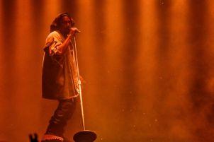Kanye West performing at Ottawa Bluesfest on July 10, 2015.