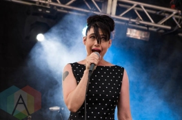 The Julie Ruin performing at the Pitchfork Music Festival on July 19, 2015. (Photo: Katie Kuropas/Aesthetic Magazine)