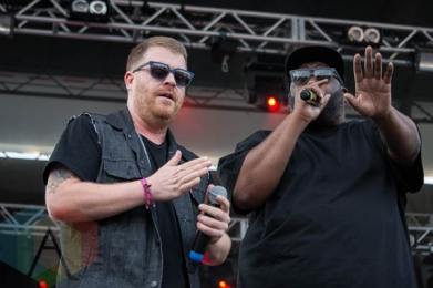 Run The Jewels performing at the Pitchfork Music Festival on July 19, 2015. (Photo: Katie Kuropas/Aesthetic Magazine)