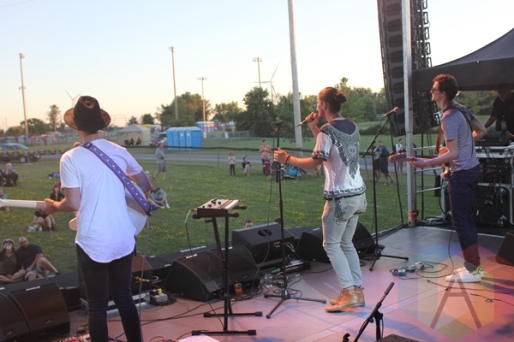 The Attic Kids performing at the Wolfe Island Music Festival on Aug. 7, 2015. (Photo: Curtis Sindrey/Aesthetic Magazine)