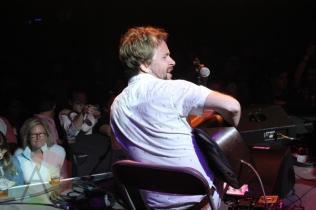 Elliott Brood performing at the Wolfe Island Music Festival on Aug. 7 , 2015. (Photo: Curtis Sindrey/Aesthetic Magazine)