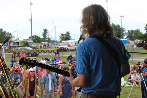 Lost Cousins performing at the Wolfe Island Music Festival on Aug. 8, 2015. (Photo: Curtis Sindrey/Aesthetic Magazine)