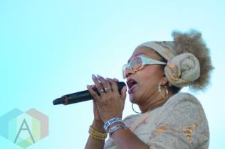 Marcia Griffith performing at Toronto Reggae Fest in Toronto, ON, on August 16, 2015. (Photo: Steve Danyleyko/Aesthetic Magazine)