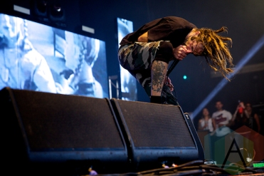 """Lamb of God performing at the Molson Amphitheatre in Toronto, ON on Aug. 8, 2015 during the """"Summer's Last Stand Tour"""". (Photo: Matt Klopot/Aesthetic Magazine)"""