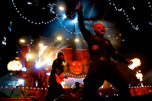 """Slipknot performing at the Molson Amphitheatre in Toronto, ON on Aug. 8, 2015 during the """"Summer's Last Stand Tour"""". (Photo: Matt Klopot/Aesthetic Magazine)"""