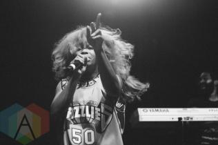 SZA performing at the Squamish Music Festival on Aug. 7 , 2015. (Photo: Steven Shepherd/Aesthetic Magazine)