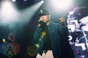 Chance The Rapper performing at the Squamish Music Festival on Aug. 7 , 2015. (Photo: Steven Shepherd/Aesthetic Magazine)