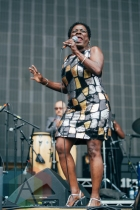 Sharon Jones and The Dap-Kings performing at the Squamish Music Festival on Aug. 8, 2015. (Photo: Steven Shepherd/Aesthetic Magazine)