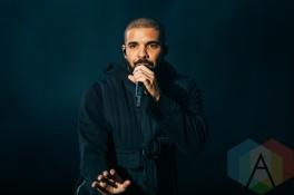 Drake performing at the Squamish Music Festival on Aug. 8, 2015. (Photo: Steven Shepherd/Aesthetic Magazine)
