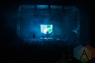 Porter Robinson performing at the Squamish Music Festival on Aug. 8, 2015. (Photo: Steven Shepherd/Aesthetic Magazine)