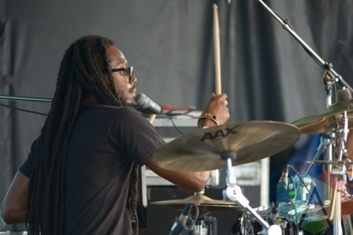 Nattali Rize and Notis performing at Jambana in Markham, ON, on August 3, 2015. (Photo: Steve Danyleyko/Aesthetic Magazine)