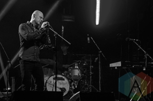 Radiohead's Philip Selway performing at The Mod Club in Toronto on Aug. 4, 2015. (Photo: Theo Rallis/Aesthetic Magazine)