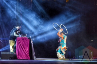 A Tribe Called Red performing at Panamania 2015 in Toronto, ON on Aug. 12, 2015. (Photo: Justin Roth/Aesthetic Magazine)