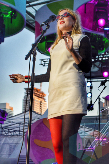 Austra performing at Panamania 2015 in Toronto, ON on Aug. 12, 2015. (Photo: Justin Roth/Aesthetic Magazine)
