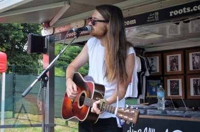 Gavin Gardiner (of The Wooden Sky) performing at Riverfest Elora 2015 on Aug. 15, 2015. (Photo: Justin Roth/Aesthetic Magazine)